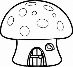 Orange Mushroom House Smurf Coloring Page | Wecoloringpage