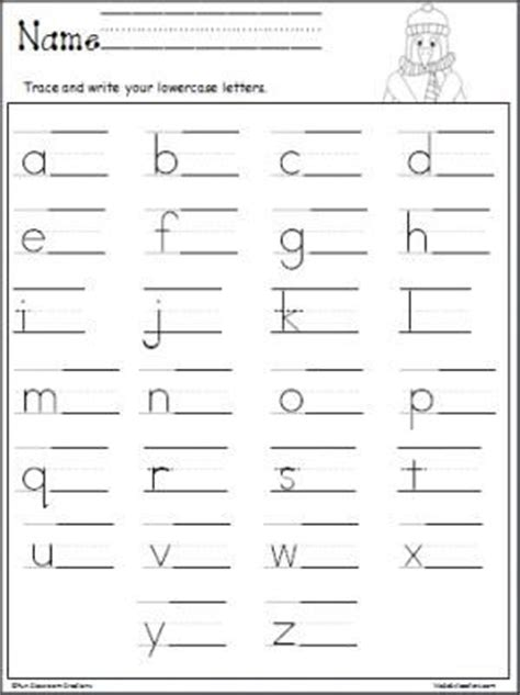 penguin lowercase letter writing mcps kindergarten