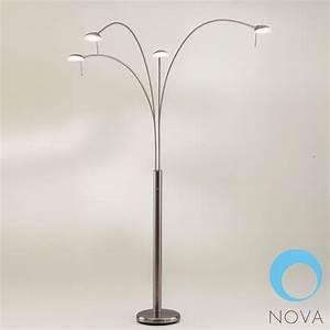 nova shell 4 light arc floor lamp modern floor lamps With floor lamp with 4 lights
