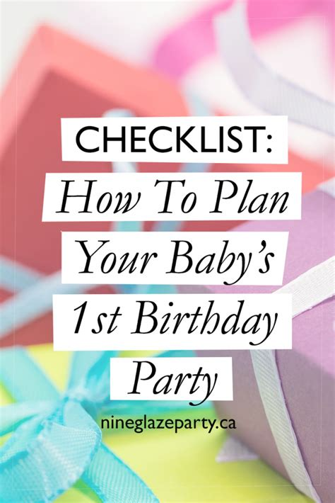 1st birthday party ideas for boys right start on a checklist how to plan your baby 39 s 1st birthday party