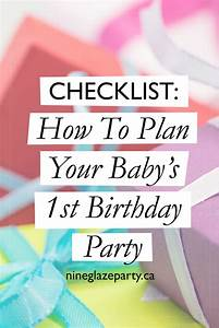 Checklist: How To Plan Your Baby's 1st Birthday Party