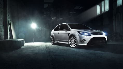 Ford Focus Rs White Wallpaper