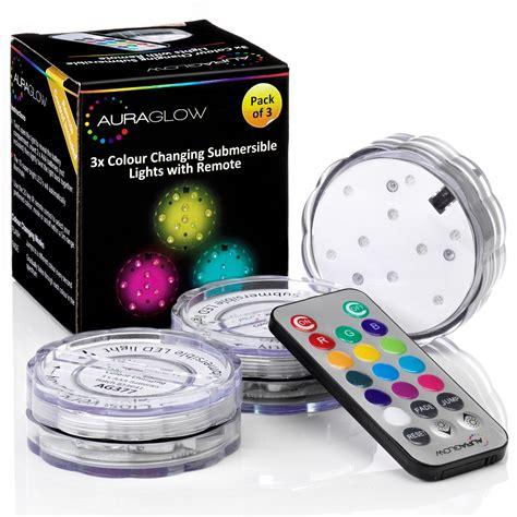 Remote Controlled Aqua Mood Lights  3 Pack  Auraglow Led