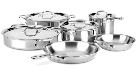 cookware clad d3 stainless compact piece steel sets cutlery
