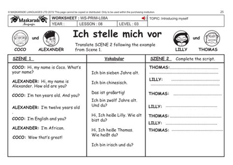 german ks2 level 3 ks3 year 7 my family tree