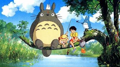 Ghibli Studio Totoro Wallpapers Backgrounds Neighbor Wallpaperaccess