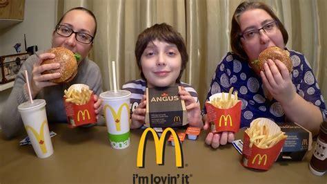 mighty angus burger mcdonalds gay family mukbang