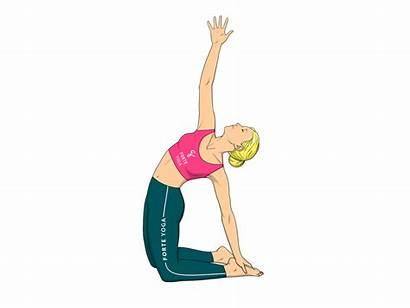 Yoga Camel Pose Revolved Ustrasana Parivrtta Reverse