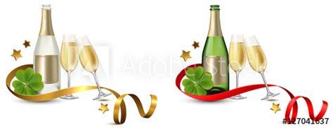 clipart brindisi silvester set sektflasche und gl 228 ser mit sterne und band