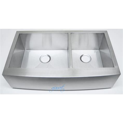 in kitchen sink 36 inch stainless steel curved front farmhouse apron 60 40 4880