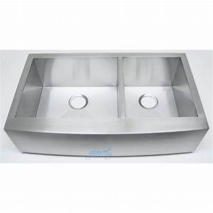 36 inch stainless steel curved front farmhouse apron 60 40 With 36 inch apron front kitchen sink