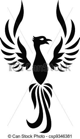 phoenix tattoo silhouette
