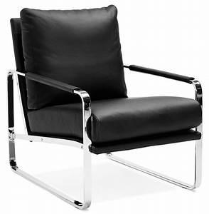 Fauteuil Design Confortable : fauteuil lounge george noir confortable fauteuil design ~ Teatrodelosmanantiales.com Idées de Décoration