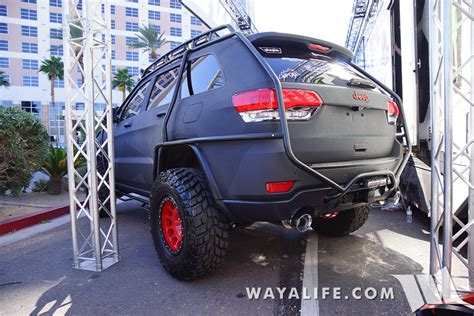 bulletproof jeep 2015 sema charcoal bulletproof jeep wk2 grand cherokee