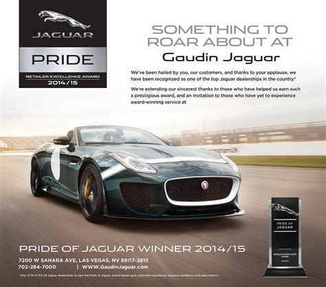 Gaudin Jaguar Las Vegas by Gaudin Jaguar Honored With Top Award Gaudin Motor Company