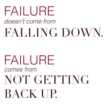 Failing And Getting Back Up Quotes