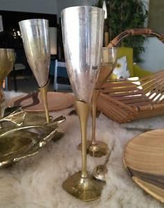 Coupe à Champagne : coupe champagne en laiton 1950 ~ Teatrodelosmanantiales.com Idées de Décoration