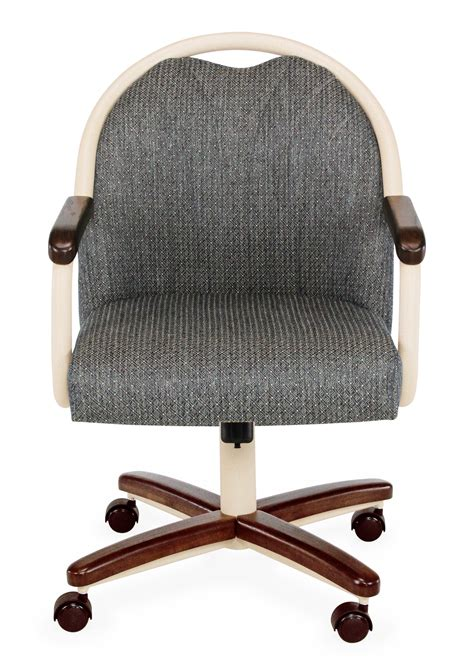 Chromcraft Chairs With Casters by Chromcraft C188 855 Swivel Tilt Caster Arms Chair