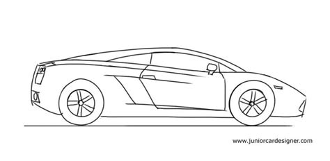 cartoon sports car side view junior car designer how to draw a lamborghini gallardo
