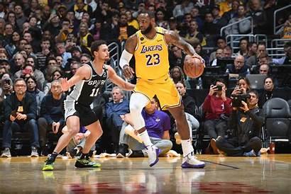 Lebron James Lakers Spurs Vs Point February