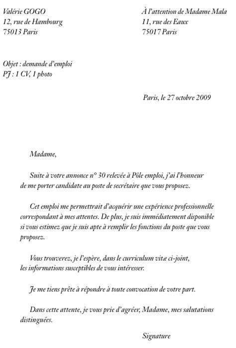 lettre de motivation employé de bureau lettre de motivation recherche d emploi