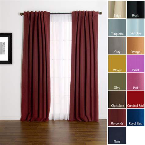 solid insulated thermal 84 inch blackout curtains block