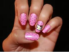 Pink cute nail des...