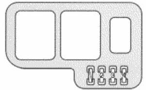 Lexus Es300  1997  - Fuse Box Diagram
