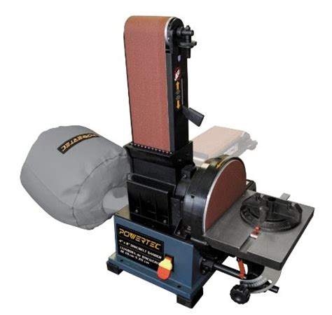 powertec bd belt disc sander  built  dust