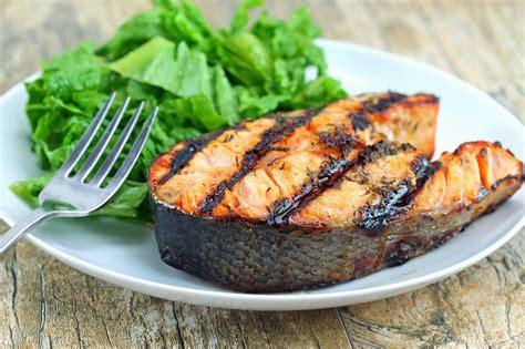 bbq salmon orange ginger grilled salmon steaks thestayathomechef com