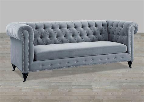Tufted Velvet Sofa Gray by Grey Velvet Sofa Button Tufted