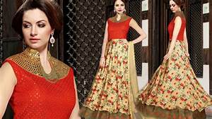 Womens Indo Western Designer Party Wear Long Gowns: Girls 2017 Best Indian Latest Gown Dress