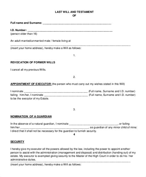 Notarized bill of sale forms. FREE 7+ Sample Last Will and Testament Forms in PDF | MS Word