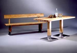 Küchentisch Mit Bank Und Stühlen : k chentisch mit edelstahlbeinen schreinerei buchal krings ~ Bigdaddyawards.com Haus und Dekorationen