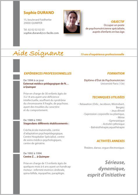 Cv Aide by Exemple De Cv Gratuit D Aide Soignante Sle Resume