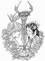 Drawing Wicca Moon Getdrawings sketch template