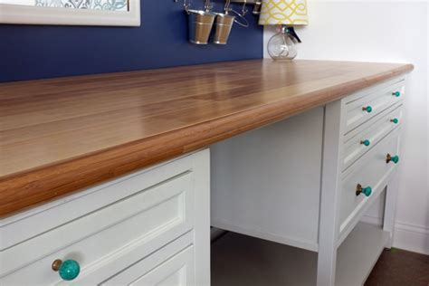 DIY Custom Bamboo Countertop   Teal and Lime by Jackie