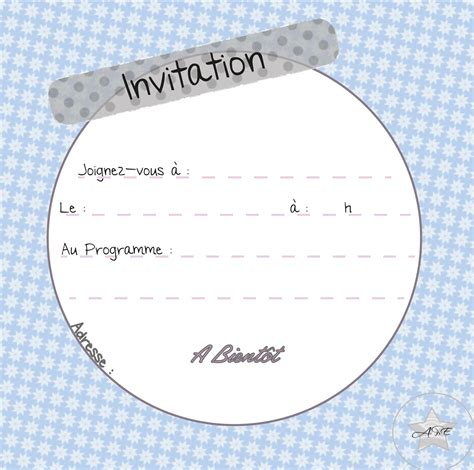 Carte D Invitation à Imprimer  Carte D'invitation