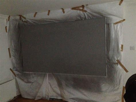 diy projector screen paint finally    uk