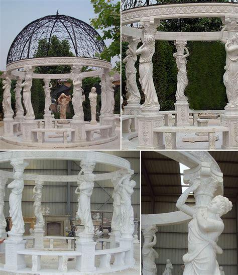 wedding ceremony decorations for sale cheap high quality beige marble pavilion gazebo designs for wedding ceremony decoration