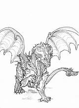 Dragon Drawings Coloring Monsters Wyvern Monster Drawing Yoru Draw Sketch Sapphire Pages Reference Deviantart Cool Template Dragons Scaned Drew Might sketch template