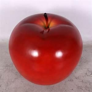 Pomme Rouge Deco : pomme g ante rouge fruits fleurs champignons figurines et d cors en r sine ~ Teatrodelosmanantiales.com Idées de Décoration