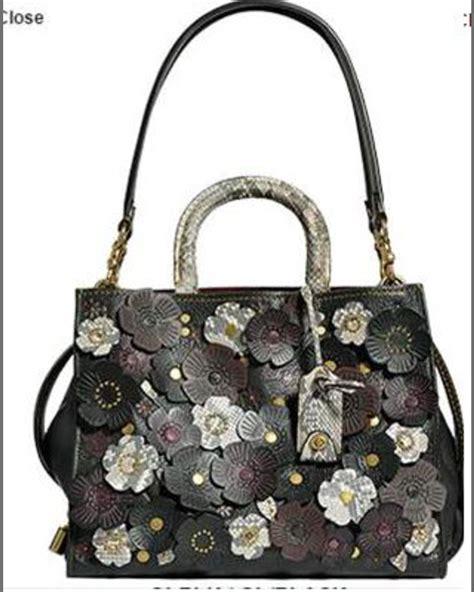 coach  rogue exotic tea rose satchel bag  brassblack neiman marcus