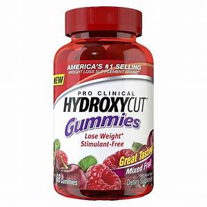 Hydroxycut Pro Clinical Dietary Supplement Gummies - Mixed Fruit