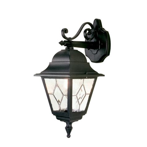 elstead lighting norfollk black wall lantern at