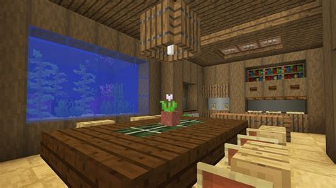 Minecraft Interior Design Kitchen by Minecraft Kitchen And Dining Room Interior With Fish Tank