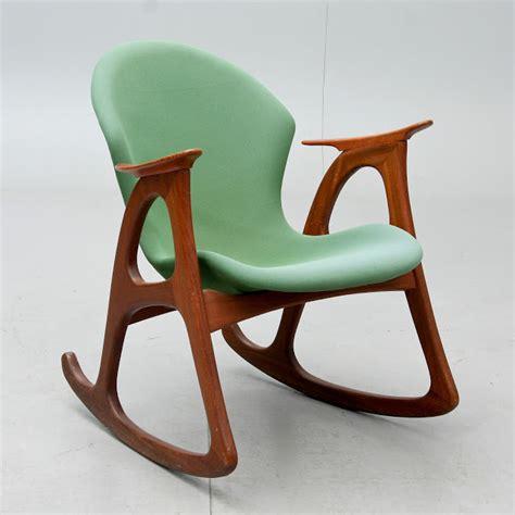 nordiska style teak rocking chair