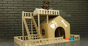 How To Make Amazing Puppy Dog House From Cardboard Sia