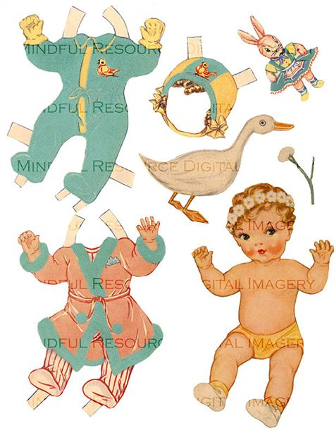 golden baby paper doll printable  whitman  costumes