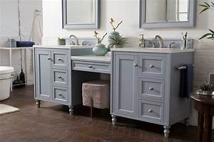 86, U0026quot, Copper, Cove, Encore, Silver, Gray, Double, Sink, Bathroom, Vanity